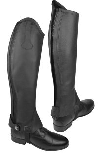 Norton - Black Leather Chaps for Kids
